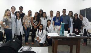 Residentes de Oncologia durante aula no Hospital de Câncer do Maranhão Foto(divulgação)